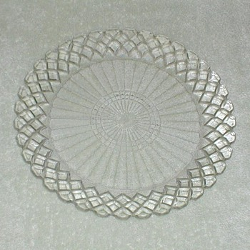 Waterford Waffle Pattern Glass Plates