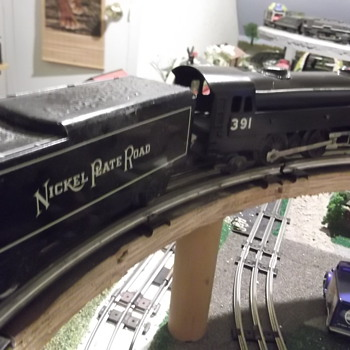 Gloss black Marx custom 391 and NPR tender rescued from a fire - Model Trains