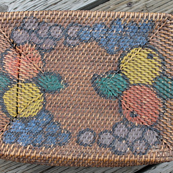 Painted Basket ?Folk Art?  - Folk Art