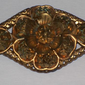 Copper Brooch - Costume Jewelry