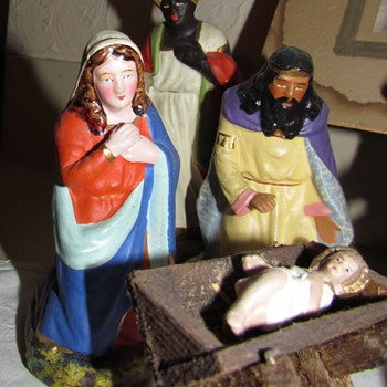 Vintage German Nativity - Part V: The Holy Family - Christmas