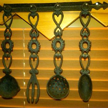 an old iron spoon set... - Kitchen