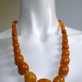 1920-30s- art deco butterscotch necklace - Art Deco