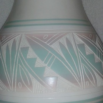 Hozoni Pottery Hand painted by Native American Artists  - Art Pottery