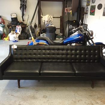 Black mid century sofa