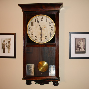 1920-ish Gilbert Store Regulator Coca Cola Clock