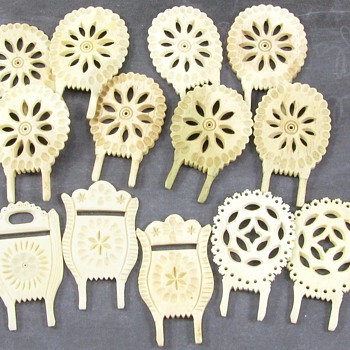 Mystery Carved Bone Items - Asian