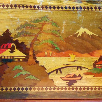 Inlaid Vintage Japanese Puzzle Box, Over 100 correct moves to open!!!
