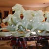 Antique Chinese Carved Jade Horse Stampede W/Orig Stand Mom's