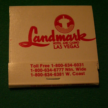 Vintage/Antique Landmark Matchbook ~ Las Vegas, Nevada