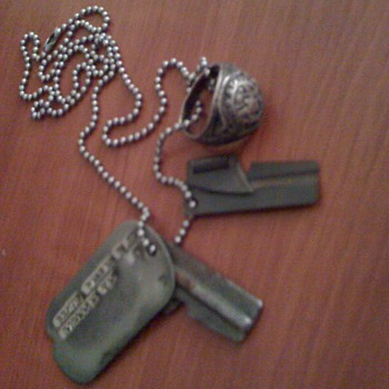 War Dog tags, Can openers and US Army Ring