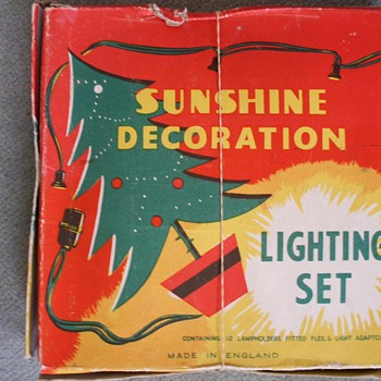 Vintage Christmas tree lighting set. - Christmas