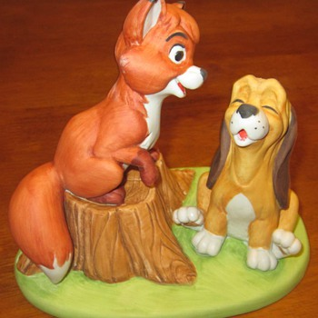 The Fox and the Hound - 1980 Sculpture - Made For Disneyland & Walt Disney World - Movies