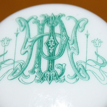 Art-Nouveau toothpick holder~what's that monogram?
