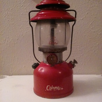 Red Coleman Lantern.. an original piece of American history.