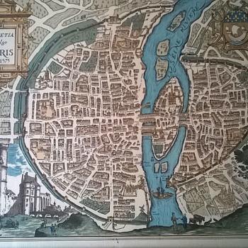 Engraving (?) Lutetia Vulgo Paris Anno-1575  LANA Anno 1590