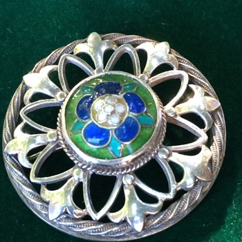 Arts & Crafts enamel brooch