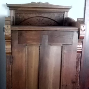 Eastlake style chimney cupboard