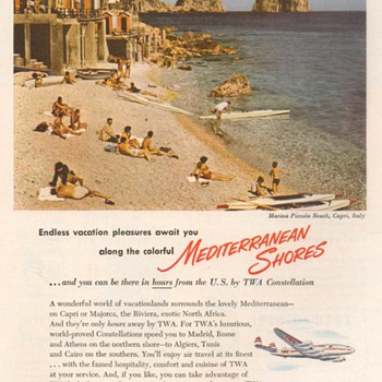 1952 - TWA Airlines Advertisement - Advertising