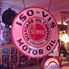 """Standard Oil...ISO=VIS Motor Oil double sided porcelain 30"""" sign"""