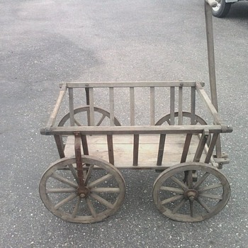 1900's Pumpkin Hay Goat Cart From Germany (ALL ORIGINAL)