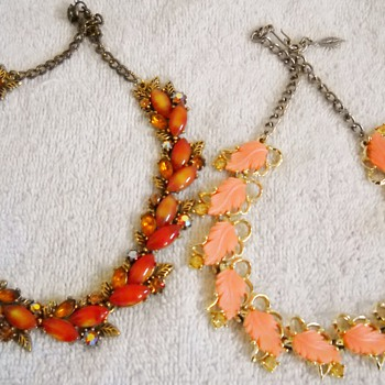 Here comes the Autumn! Vintage Necklaces - Costume Jewelry