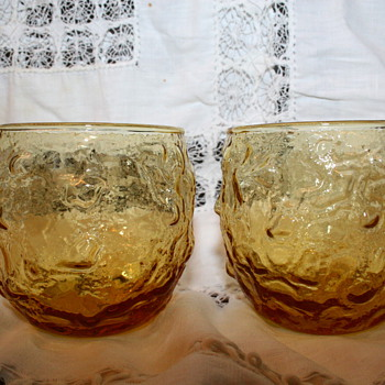 Amber color glasses  - Glassware