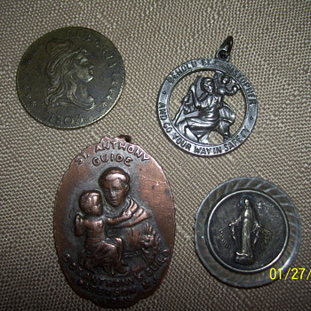 1803 kettle?coin /1830 mother of mary