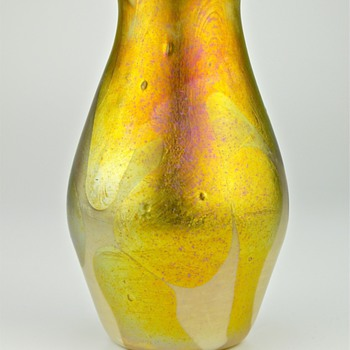 early unsigned Tiffany Favrile Cypriote art glass vase
