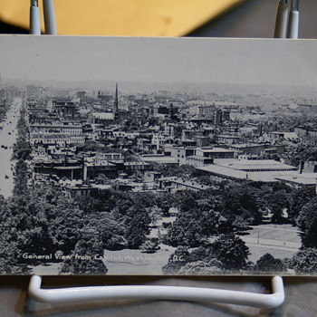 RPPC GENERAL VIEW FROM CAPITOL, WASHINGTON,D.C. - Postcards