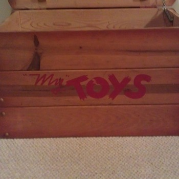 Vintage Cedar Toy Chest/Box