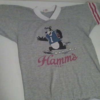 Vintage Hamm's Beer Football Jersey Small - Breweriana