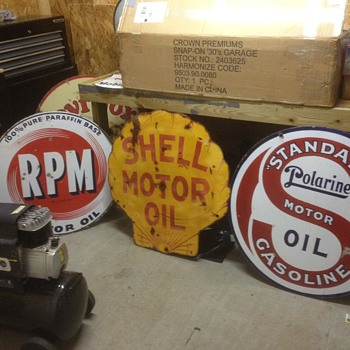 Standard, Shell and RPM Porcelain Sign s  - Advertising