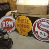 Standard, Shell and RPM Porcelain Sign s
