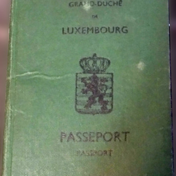 Luxembourg passport with revenue stamp issued 1945