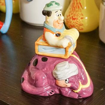 Fred Flintstone Salt & Pepper Shakers - Kitchen