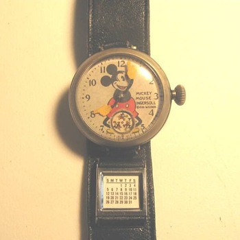 Odd-Ball 1930's Mickey Wristwatches - Wristwatches