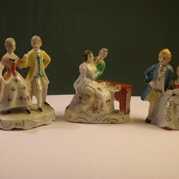 "Lady & Gentleman Figurines ""Occupied Japan"""