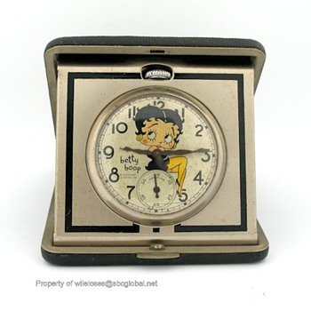 1934 Ingraham Betty Boop Character Pocket Watch - Wristwatches