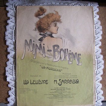 1909 Sheet Music. ART NOUVEAU STYLE Pretty As REAL ART,