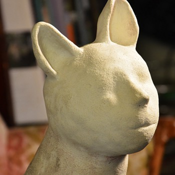 Very odd and cool bisque cat-person - handmade/unsigned - Animals