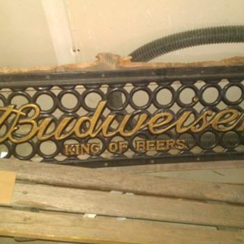BUDWEISER BENCH - Breweriana