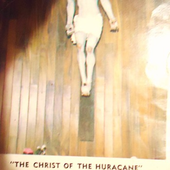 Christ of the Hurricane Sept. 1 1971  Barra De Navidad Mexico  and top secret!! How to catch fish from the beach!! - Photographs