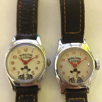 Two versions of Hopalong Cassidy Wristwatches