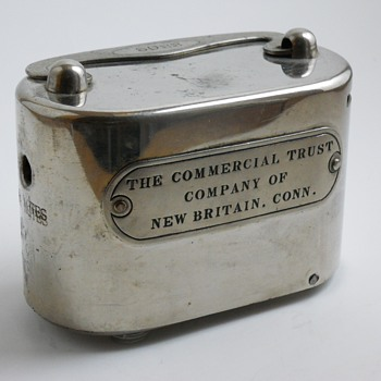 "Promotional Advertising Steel Bank""The Commercial Trust Company of New Britain,Connecticut, Circa 1925 - Coin Operated"