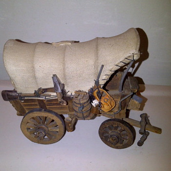 Antique Folk Art Wagon - Model Cars
