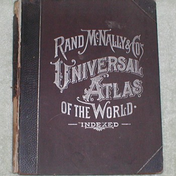 1898 Rand McNally World Atlas - Books
