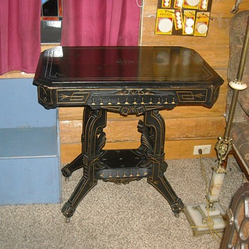 Black Parlor Table - Furniture