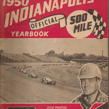 1950 Indianapolis 500 Yearbook - Paper