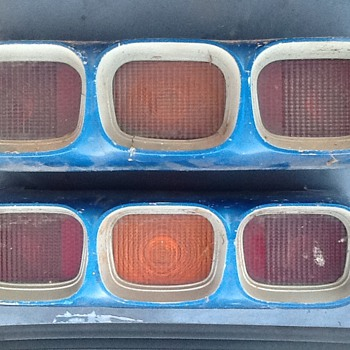 Old car tail light assembly.